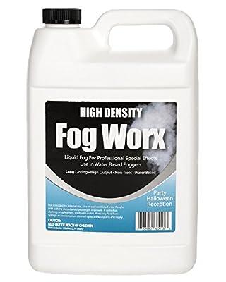 Sanco Industries Fogworx Extreme High Density Fog Juice Gallon - Long Lasting, High Output, Odorless Water Based Fog Machine Fluid - For 400 Watt To 1500 Watt Machines HD Gallon