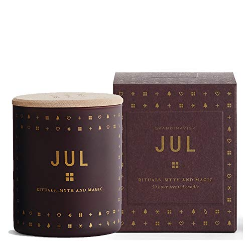 Skandinavisk JUL Christmas Scented Candle-Vegetable Wax, Red, 200 g