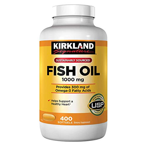 Kirkland Omega 3 Fish Oil 1000 mg 400 Softgels by Kirkland