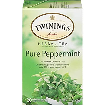 Twinings of London Pure Peppermint Herbal Tea Bags, 20 Count (Pack of 1) by Twinnings