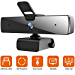 Webcam with Microphone(30fps), Full HD 1080P with Privacy Cover [Upgraded], Plug & Play Camera for Computer, Smart Tv, Laptop, Multi-Compatible, for Video Conferencing, Online Lessons and Streaming (Renewed)