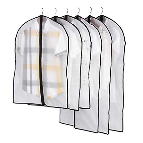 Nunubee Hängender Kleidersack Black Edge Translucent Middle Zipper Atmungsaktiver Kleidersack mit Mottenschutz für die Aufbewahrung von Kleidern, Anzügen und Mänteln im Schrank