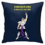 109 Mortal Kombat Shredder Flawless Victory Ninja Turtles TMNT Pillowcase, Double-Sided Printing, Hidden Zip Pillowcase, Beautiful Printed Pattern Pillowcase 18inch18inch
