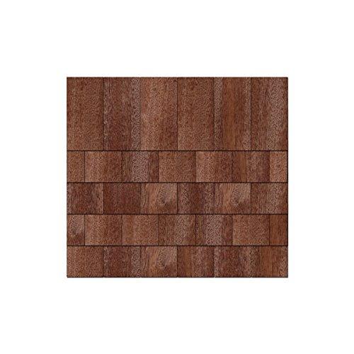 Echtholz Furnier dunkle Schindeln - Rechteckform - Größen- & Menexaktswahl, Schindelgröße:145mm x 72.5mm, Pack mit:50 Stück