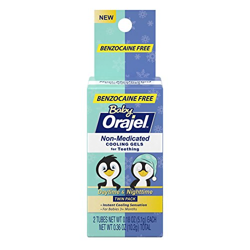 Price comparison product image Orajel Non-Medicated Baby Teething Day & Night Cooling Gels 0.18 oz Twin Pack (Pack of 1)