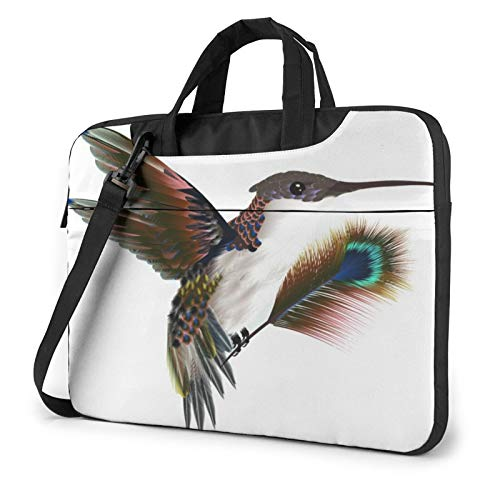 Hummingbird Drawing Laptop Shoulder Messenger Bag,Laptop Shoulder Bag Carrying Case with Handle Laptop Case Laptop Briefcase 15.6 Inch Fits 14 15 15.6 inch Netbook/Laptop