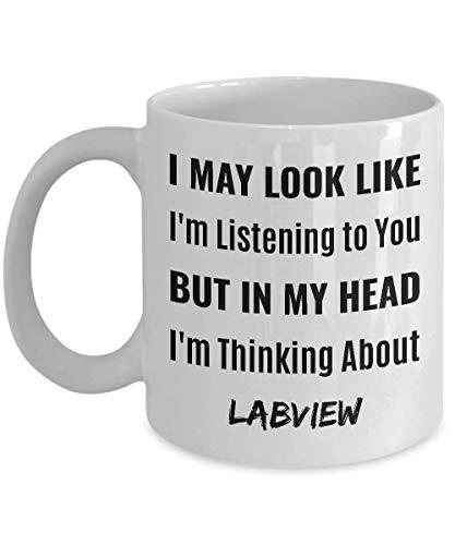 Not Applicable Labview kaffeetasse - ich Sehe vielleicht so aus, Als würde ich dir zuhören, Aber in Meinem Kopf denke ich an labview