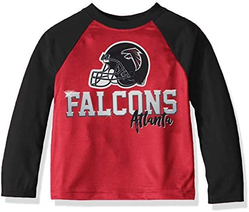 NFL Atlanta Falcons Boys Long Sleeve TEAM TEE SHIRT Team Color 18M product image