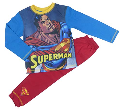 Jungen Avengers Marvel Schlafanzug Set Thor Hulk Iron Man Captain Amerika 4-5Y to 9-1 - Superman, 122-128