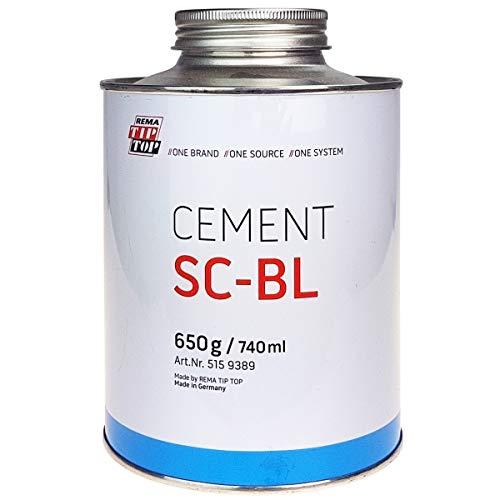 Rema Tip Top Special Cement BL Reifenreparatur 650g Dose Reifen Reparatur Kleber Verbindung Vulkanisierung Selbstvulkanisation Cement Vulkanisationwerkstätten Spezial Cement Werkzeug