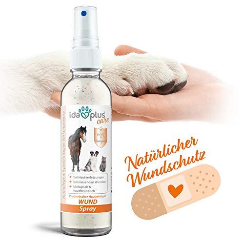 Ida Plus – Wund Spray für Hunde, Katzen, Pferde & mehr 200 ml - Schutzschild bei Hautverletzungen – Unterstützung der Regeneration –probiotisch, pH-neutral und besonders hautfreundlich