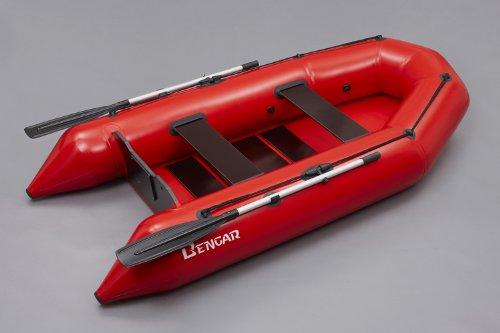 Bengar opblaasbare boot roeiboot set L-280 U rood Lotus 280 U, ideaal geschikt als visboot