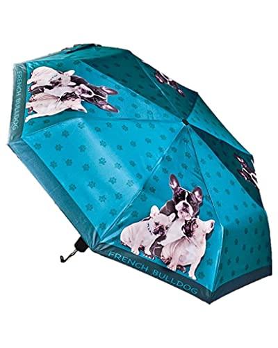 Compact Dog Breeds Folding Umbrella with Storage Sleeve - French Bulldog