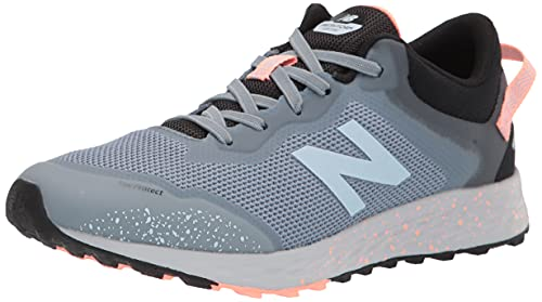 New Balance Fresh Foam Arishi V1 Lace-Up Trail Running Shoe, Light Cyclone/Paradise Pink, 2 US Little Kid