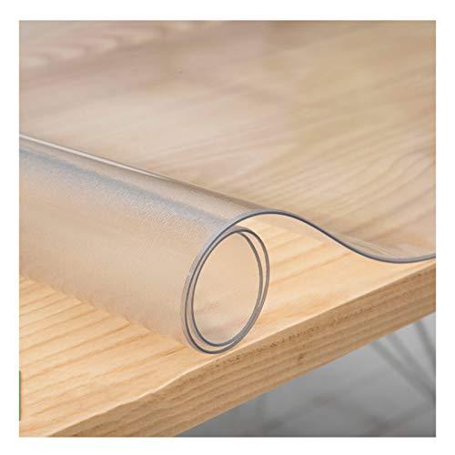 ZWYSL Protector Mesa Almohadilla De Goma De PVC Mantel Impermeable 1,6 Mm, 2 Mm (Mate) Mantel Transparente Placa De Cristal Transparente Mesa De Centro De Plástico (Color : 2MM, Size : 60X120cm)