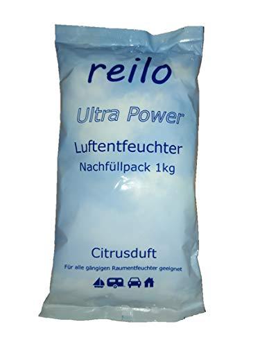 """10x 1kg""""Citrusduft"""" Luftentfeuchter Granulat (Calciumchlorid) im Vliesbeutel, Nachfüllpack für Raumentfeuchter"""