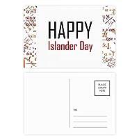 カナダ島民の日の祝福祭休日祭りを祝う祝賀の言葉 公式ポストカードセットサンクスカード郵送側20個