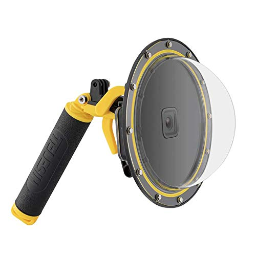 LAMASA Dome Port para GoPro Hero 9 Negro, funda de buceo subacuática para lente de cámara con carcasa impermeable + gran angular antivaho Inserto de mano flotante para Go Pro 9 Accesorios