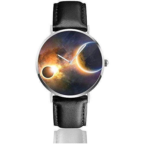 Resumen Científico Brillante Planeta Tierra Espacio Nebulosa Eclispe Solar Sters Esta amueblado...