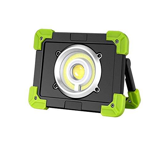 JIADUOBAO Luz de trabajo portátil LED de 20 W, luces LED recargables por USB, 3 modos, luz de inundación al aire libre resistente al agua para emergencia, pesca, cortes de energía y más