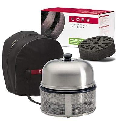 Cobb Premier Charcoal Barbecue Grill and 6 Cobblestones Bundle