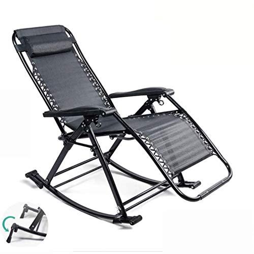 WZDD Liegestuhl Garten, Sonnenliege Mit Kissen, Klappbare Strandliege 2-in-1 Relaxliege Klappliegestuhl Ergonomisch - Bis 200 Kg Belastbar