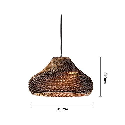 Wohnkultur Hängelampe/Kronleuchter Retro Bare von Nordic Style Creative Cap-31 * 21Cm für Schlafzimmer, Salon, Bar, Restaurant, BOSS LV