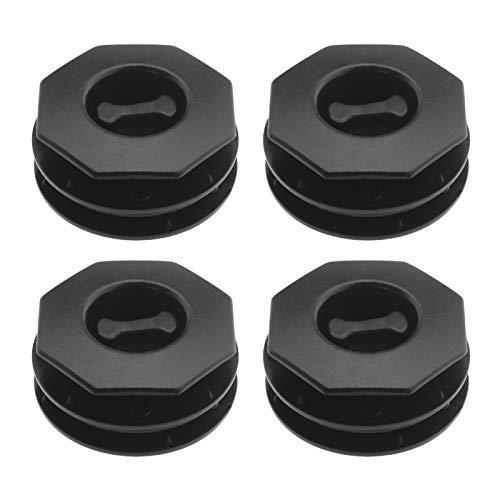 4 clips de plástico trenzado para fijación de alfombras de suelo, doble capa con hebilla antideslizante para alfombras, montaje (negro)
