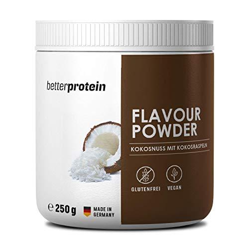 Geschmackspulver Kokosnuss mit echten Kokosraspeln zum verfeinern und zum backen geeignet | vegan | kalorienreduziertes Aroma | Flavour Powder Zero 250g | better protein