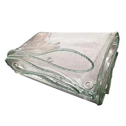 Qazxsw Lonas, Lona Multiusos Espesa PVC Transparente para Cubierta de Hoja de Suelo/Almacenamiento Abierto/jardín, Lona a Prueba de Polvo con Ojales Resistentes a la oxidación, Impermeable, 2Mx4.5M