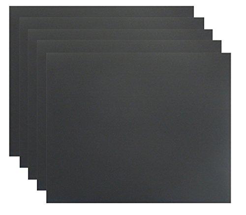 5er Set Schleifpapier K800 DIY, wasserfest I Wasserschleifpapier, Sandpapier Nass-Schleifpapier, Blatt, Trockenschleifpapier, Handschleifpapier