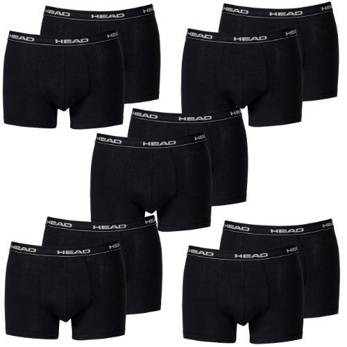 HEAD Men Boxershort 841001001-200 Basic Boxer 10er Pack black, Gr. L