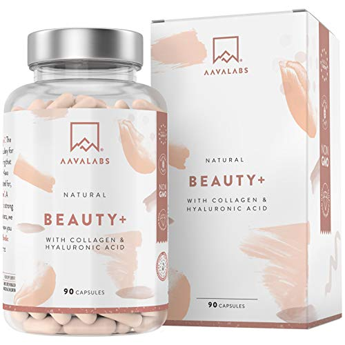 Premium Hydrolyzed Porcine Collagen Capsules - Supports Hair Growth, Skin, Nails and Joints - Contains Vitamin C, Hyaluronic Acid, Zinc, Biotin, Selenium - 90 Capsules - Non-GMO - Natural Skin Glow