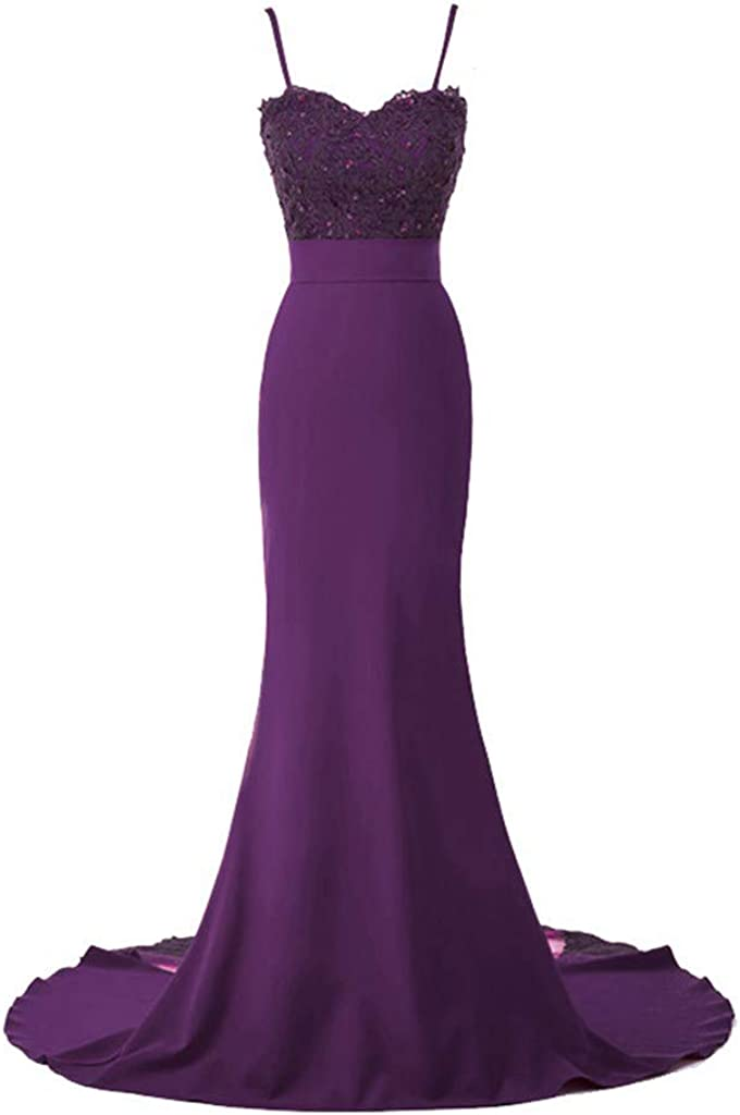 Huifany Floral Lace Appliques Sequins Sweetheart Bridesmaid Dresses Mermaid Long Formal Evening Gowns
