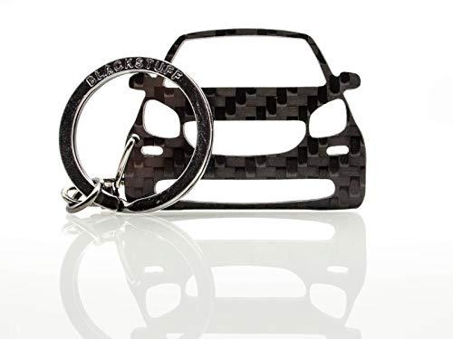 BlackStuff Carbon Karbonfaser Schlüsselanhänger Kompatibel mit Fortwo C453 A453 Forfour W453 2014 BS-845