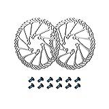 Ysislybin 2 discos de freno para bicicleta, 160 mm, G3, frenos de disco hidráulicos de acero inoxidable con 12 tornillos para la mayoría de las bicicletas
