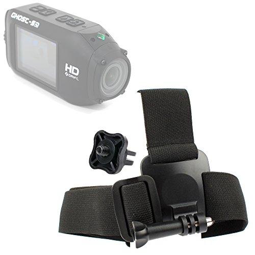 DURAGADGET Drift HD Action Camera Helmet Mount - Anti-Slip Replacement Head/Helmet Strap Mount for Drift HD Ghost & Drift HD - Plus Bonus GoPro Screw Thread Adapter!