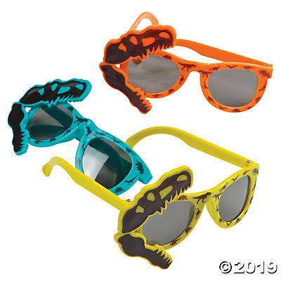 Dinosaur Party Sunglasses - 12 Pack - Dino Dig Party Favors