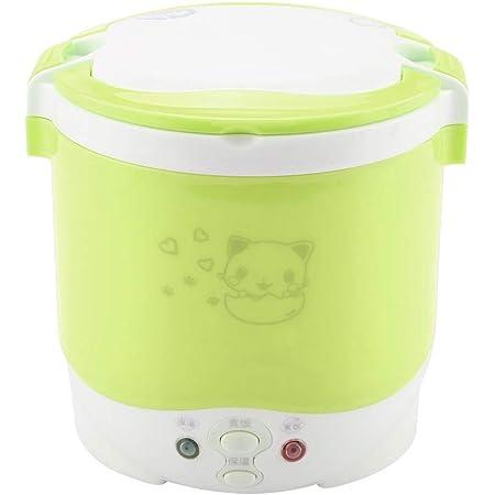 1L Mini vaporizador para cocinas de arroz, 170W Eléctrico, fiambrera multifuncional, calentador portátil de alimentos, vaporizador para cocinar ...