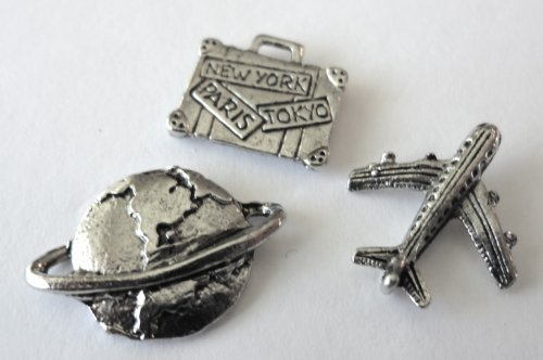 """""""Travel The World"""" Decorative Push Pins, 15 Pieces - T-84/1AS"""
