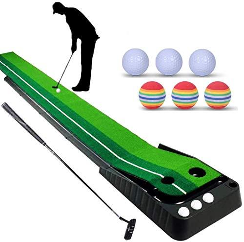YINGJEE Tappetino da Golf con Putter da Golf e 6 Palline da Golf, Tappetino da Golf per Allenamento, Tappetino da Allenamento Tappetino da Golf Gioco da casa per Ufficio, Tappetino 300 * 30 cm