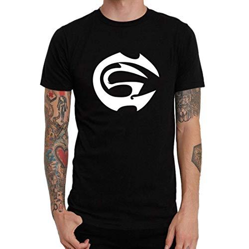 PEIJUNLAI T Shirts for Men G-B02 Cartel De Santa Funny Novelty Tops Mens tee Shirts M