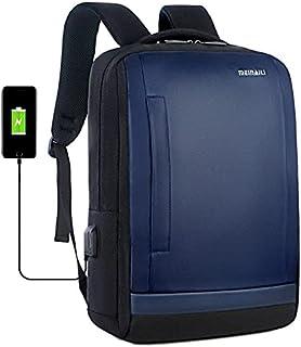 Men's USB Charging Backpack 15.6 Inch Computer Bag Travel Backpack 1809 - Blue