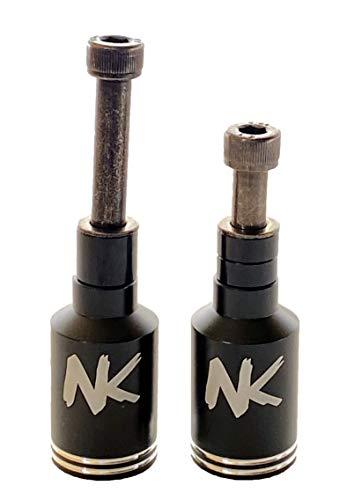 Nokaic Estriberas Pegs para Scooter Patinete Freestyle, 2 Unidades con Tornillos incluidos (Negro)