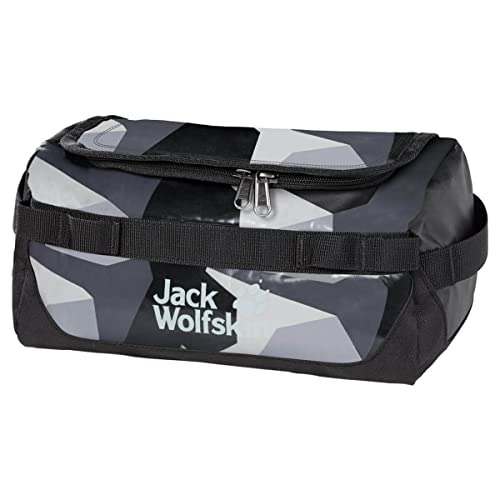 Jack Wolfskin Unisex– Erwachsene Expedition Wash Sporttasche, Grey geo Block, One Size