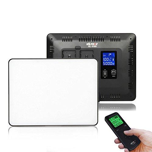 Viltrox VL-200 Pannello Video Luce LED Bi-Color, Illuminazione Photo Studio per Fotocamere DSLR Videocamere DV, 30W / 2500LM / 5600K / 3300K / CRI95 + (senza batteria)
