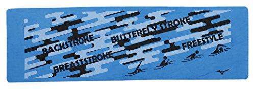 MIZUNO(ミズノ) スイムタオル 高吸水 セームタオル 暑さ対策 水泳 プール N2JY800327 ブルー 横長タイプ(21×69cm)