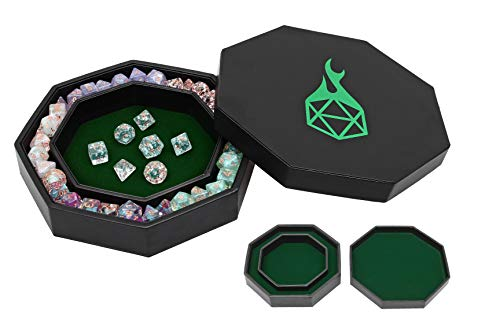 Forged Dice Co. Dice Arena Rolling Tray und Speicherplatz kompatibel mit jedem Würfelspiel, D&D und RPG Gaming, grün