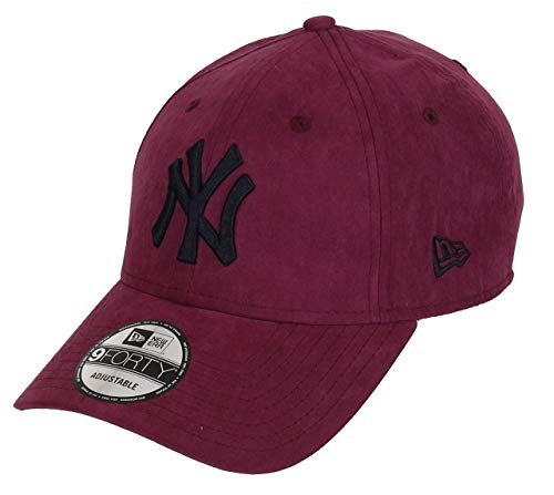 New Era New York Yankees New Era 9forty Adjustable Cap League Essential Nylon Maroon/Black - One-Size