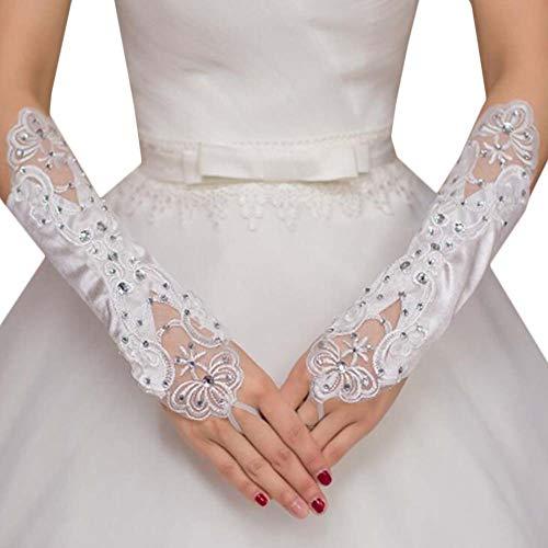 Gants de mariée mariage robe de soirée dentelle longs gants A15
